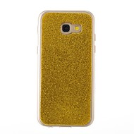 Case For Samsung Galaxy A3(2017) A5(2017) Cover Shockproof Back Cover Case Solid Color Glitter Shine Soft TPU