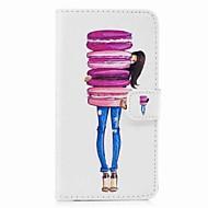 Недорогие Чехлы и кейсы для Galaxy S-Кейс для Назначение SSamsung Galaxy S8 Plus S8 Кошелек Бумажник для карт со стендом Флип С узором Чехол Продукты питания Твердый