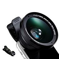 Lente del teléfono del kyotsu lente del pescado-ojo lente granangular lente macra lente del aluminio 15x 52m m kit de las lentes de la