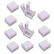 baratos -Conector de tira led de 4 pinos para 5050 rgb luzes de tira led 10pcs