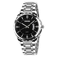 Недорогие Фирменные часы-SKMEI Муж. Кварцевый Наручные часы Нержавеющая сталь Группа Мода Серебристый металл