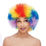 Недорогие Парики из искусственных волос-Парики из искусственных волос Без шапочки-основы Средний Кудрявые Радужный Парик в афро-американском стиле Для темнокожих женщин Парики