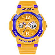 levne -SMAEL Pánské Sportovní hodinky Digitální hodinky Digitální Z umělé kůže Bílá / Modrá / Orange 50 m Žhavá sleva Analog - Digitál Přívěšky - Růžová Gold / White Navy / White