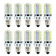 お買い得  LED コーン型電球-brelong 10個smd3014 dimmable 80ledコーンライトホワイト/ウォームホワイト/ ac110v / ac220v / e11 / e12 / e17