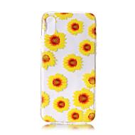 Para iPhone X iPhone 8 iPhone 8 Plus Carcasa Funda Ultrafina Transparente Diseños Cubierta Trasera Funda Flor Suave TPU para Apple iPhone