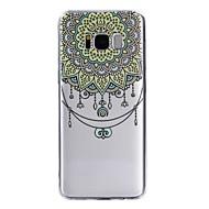 Недорогие Чехлы и кейсы для Galaxy S7 Edge-Кейс для Назначение SSamsung Galaxy S8 Plus S8 Прозрачный С узором Кейс на заднюю панель Мандала Слон Кружева Печать Мягкий ТПУ для S8