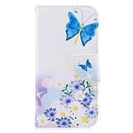 Недорогие Кейсы для iPhone 8 Plus-Кейс для Назначение Apple iPhone X iPhone 8 Бумажник для карт Кошелек со стендом Мешочек Бабочка Твердый Кожа PU для iPhone X iPhone 8