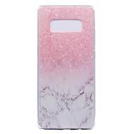 кейс для галактики Samsung примечание 8 примечание 5 мрамор прозрачный узор задняя крышка мягкий чехол tpu
