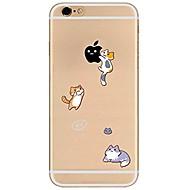Назначение iPhone X iPhone 8 Чехлы панели Прозрачный С узором Задняя крышка Кейс для Композиция с логотипом Apple Кот Мягкий Термопластик
