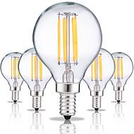 olcso LED izzólámpák-5pcs 4 W 360 lm E14 Izzószálas LED lámpák G45 4 led COB Dekoratív Meleg fehér Hideg fehér AC 220-240V