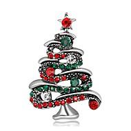 Heren Dames Broches Modieus Chrismas Verzilverd Verguld Sieraden Voor Feest Kerstmis