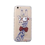 Назначение iPhone X iPhone 8 Чехлы панели Ультратонкий С узором Задняя крышка Кейс для Животное Мультипликация Мягкий Термопластик для
