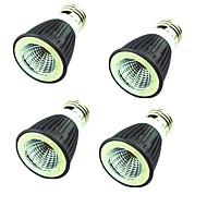 4PCS 7W LED-spotlampen MR16 1 leds COB Decoratief Warm wit Koel wit 550lm 3000-6500K AC220V