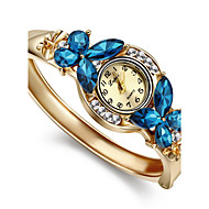 hesapli Mücevher&Saatler-Kadın's Bilezik Saat Moda Saat Quartz imitasyon Pırlanta Alaşım Bant Zarif Halhal Altın Rengi
