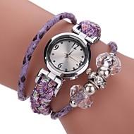voordelige Bohémien horloges-Dames Gesimuleerd Diamant Horloge Modieus horloge Armbandhorloge Chinees Kwarts Stof Band Amulet Informeel Bohémien Elegant Zwart Blauw