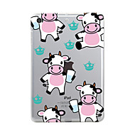 For iPad (2017) Case Cover Transparent Pattern Back Cover Case Transparent Animal Cartoon Soft TPU for Apple iPad (2017) iPad Pro 12.9''