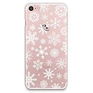 Недорогие Кейсы для iPhone 8 Plus-Кейс для Назначение Apple iPhone X iPhone 8 Прозрачный С узором Задняя крышка Рождество Мягкий TPU для iPhone X iPhone 8 Pluss iPhone 8