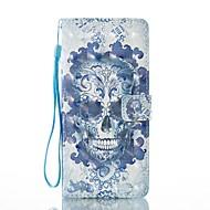 Недорогие Чехлы и кейсы для Galaxy Note-Кейс для Назначение SSamsung Galaxy Note 8 Бумажник для карт Кошелек со стендом Флип Магнитный С узором Чехол Черепа Твердый Кожа PU для