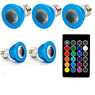 お買い得  LED スポットライト-1セット 3W 240lm E27 LEDスポットライト 1 LEDビーズ ハイパワーLED 装飾用 リモコン操作 RGB 85-265V