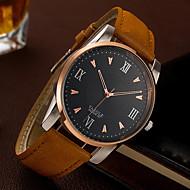 Недорогие Фирменные часы-YAZOLE Муж. Наручные часы Повседневные часы / Cool PU Группа Роскошь / На каждый день / Мода Черный / Коричневый / SSUO 377