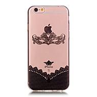 Назначение iPhone X iPhone 8 Чехлы панели Ультратонкий С узором Задняя крышка Кейс для Кружева Печать Мягкий Термопластик для Apple