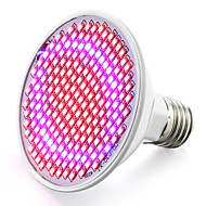 halpa Kasvivalaisimet-6.2W 800-850lm E26 / E27 Kasvava hehkulamppu 200 LED-helmet SMD 2835 Sininen Punainen 85-265V