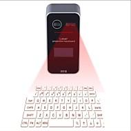 بلوتوث الإسقاط الليزر لوحة المفاتيح الافتراضية مع شاشة لد الإنجليزية كويرتي تخطيط وظيفة الماوس زر صوت موجه