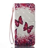 Недорогие Чехлы и кейсы для Galaxy S7-Кейс для Назначение SSamsung Galaxy S8 Plus S8 Кошелек Бумажник для карт со стендом Флип С узором Магнитный Чехол Бабочка Твердый TPU для