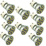 お買い得  LED スポットライト-10個 1.5W 130lm GU10 LEDスポットライト 12 LEDビーズ SMD 5050 装飾用 温白色 クールホワイト 220V