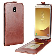 Case For Apple Samsung Galaxy J5 (2017) J3 (2017) Card Holder Flip Full Body Solid Color Hard PU Leather for J7 (2017) J5 (2016) J5
