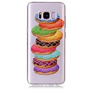 Недорогие Чехлы и кейсы для Galaxy S7 Edge-Кейс для Назначение SSamsung Galaxy S8 Plus S8 IMD Прозрачный С узором Кейс на заднюю панель Продукты питания Мягкий ТПУ для S8 Plus S8