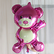 abordables Decoraciones de fiesta-oversized bear foil globos cumpleaños fiesta boda boda habitación decorado vestido de novia aluminio globos