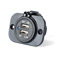 Недорогие Автомобильные зарядные устройства-Несколько портов 2 USB порта Только зарядное устройство DC 5V/2,1A