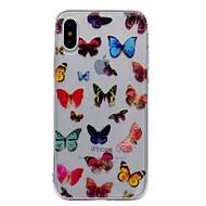 Назначение iPhone X iPhone 8 iPhone 8 Plus Чехлы панели IMD С узором Задняя крышка Кейс для Бабочка Мягкий Термопластик для Apple iPhone