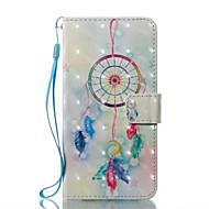 Недорогие Кейсы для iPhone 8-Кейс для Назначение Apple iPhone X iPhone X iPhone 8 iPhone 8 Plus Бумажник для карт Кошелек со стендом Флип Чехол Ловец снов Твердый
