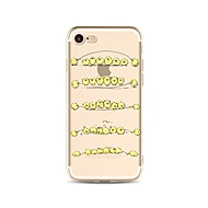 Назначение iPhone X iPhone 8 Чехлы панели Прозрачный С узором Задняя крышка Кейс для Животное Мультипликация Мягкий Термопластик для Apple