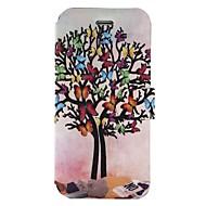 Недорогие Кейсы для iPhone 8-Кейс для Назначение Apple iPhone X iPhone 8 Бумажник для карт со стендом Флип С узором Чехол Бабочка дерево Твердый Кожа PU для iPhone X