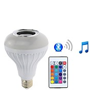 1 Pieza 7W E27 Bombillas LED Inteligentes PAR30 26 leds SMD 5050 Bluetooth Regulable Control Remoto Decorativa RGB + Blanco 500lm