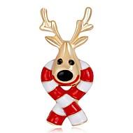 Недорогие Новогодние украшения-Броши - Позолоченное розовым золотом Мода Брошь Радужный Назначение Рождество / Новый год