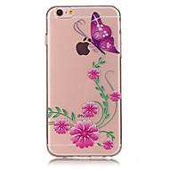 Недорогие Кейсы для iPhone 8-Назначение iPhone X iPhone 8 Чехлы панели Ультратонкий С узором Задняя крышка Кейс для Бабочка Мягкий Термопластик для Apple iPhone X