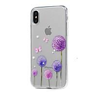 Недорогие Кейсы для iPhone 8-Кейс для Назначение Apple iPhone X iPhone X iPhone 8 iPhone 8 Plus Ультратонкий Прозрачный С узором Кейс на заднюю панель одуванчик Мягкий