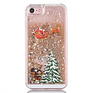 billige Etuier til iPhone 8 Plus-Etui Til iPhone 7 / iPhone 7 Plus / iPhone 6s Plus iPhone 8 / iPhone 8 Plus Flydende væske Bagcover Glitterskin / Jul Hårdt PC for iPhone 8 Plus / iPhone 8 / iPhone 7 Plus
