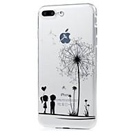 Недорогие Кейсы для iPhone 8 Plus-Кейс для Назначение Apple iPhone X / iPhone 8 Ультратонкий / С узором Кейс на заднюю панель одуванчик Мягкий ТПУ для iPhone X / iPhone 8 Pluss / iPhone 8