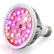 halpa -1kpl 200-300 lm E26/E27 LED-kasvivalo 24 ledit Teho-LED Lämmin valkoinen Neutraali valkoinen Punainen Sininen UV AC 85-265V
