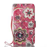 Назначение iPhone X iPhone 8 iPhone 8 Plus Чехлы панели Кошелек Бумажник для карт со стендом Флип Чехол Кейс для Цветы Твердый