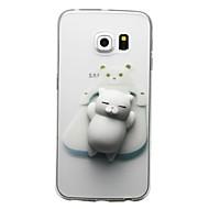 tok Για Samsung Galaxy S8 Plus S8 Διαφανής Με σχέδια Φτιάξτο Μόνος Σου Squishy Πίσω Κάλυμμα Γάτα Κινούμενα σχέδια 3D Μαλακή TPU για S8 S8
