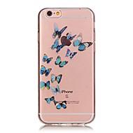 Недорогие Кейсы для iPhone 8-Назначение iPhone X iPhone 8 Чехлы панели Защита от удара Ультратонкий С узором Задняя крышка Кейс для Бабочка Мягкий Термопластик для