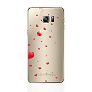 Недорогие Чехлы и кейсы для Galaxy S8-Кейс для Назначение SSamsung Galaxy S8 Plus S8 Прозрачный С узором Кейс на заднюю панель С сердцем Мягкий ТПУ для S8 Plus S8 S7 edge S7
