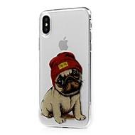 Недорогие Сегодняшнее предложение-Кейс для Назначение Apple / iPhone X iPhone X / iPhone 8 / iPhone 8 Plus Ультратонкий / Прозрачный / С узором Кейс на заднюю панель С собакой Мягкий ТПУ для iPhone X / iPhone 8 Pluss / iPhone 8