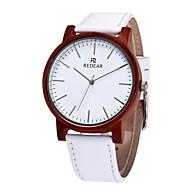 お買い得  -男性用 女性用 ファッションウォッチ 腕時計 ウッド 日本産 クォーツ 木製 本革 バンド チャーム カジュアル 白